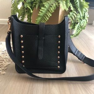 Rebecca Minkoff Black Leather Leather Feed Bag